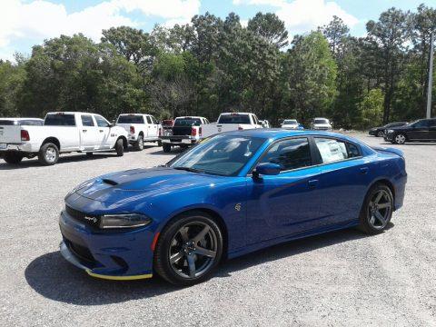 IndiGo Blue Dodge Charger SRT Hellcat.  Click to enlarge.