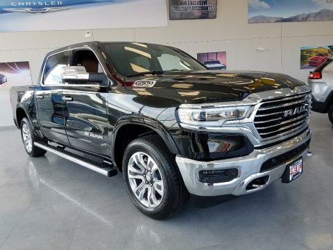 Diamond Black Crystal Pearl Ram 1500 Long Horn Crew Cab 4x4.  Click to enlarge.