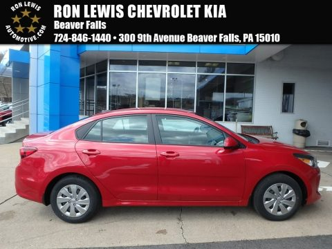 Currant Red Kia Rio LX.  Click to enlarge.