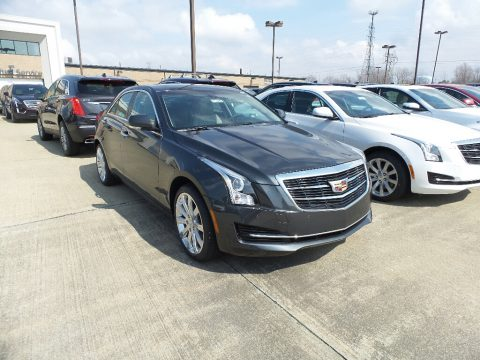 Phantom Gray Metallic Cadillac ATS Luxury AWD.  Click to enlarge.
