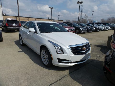 Crystal White Tricoat Cadillac ATS AWD.  Click to enlarge.