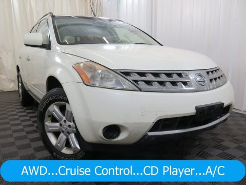 Pearl White Nissan Murano S AWD.  Click to enlarge.