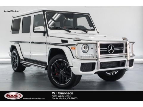 Polar White Mercedes-Benz G 63 AMG.  Click to enlarge.