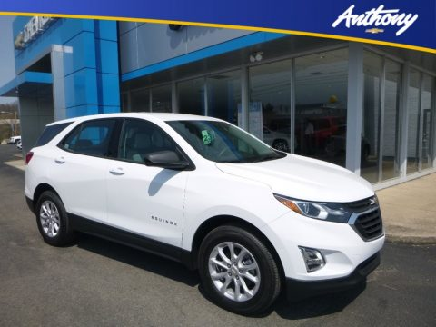 Summit White Chevrolet Equinox LS AWD.  Click to enlarge.
