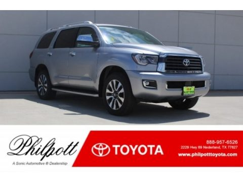 Silver Sky Metallic Toyota Sequoia Limited.  Click to enlarge.
