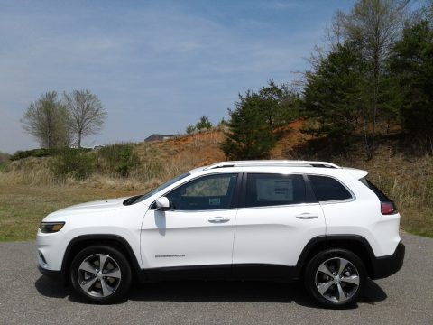 Bright White Jeep Cherokee Limited.  Click to enlarge.