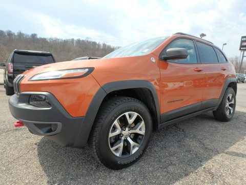 Mango Tango Pearl Jeep Cherokee Trailhawk 4x4.  Click to enlarge.