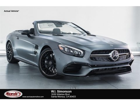 designo Selenite Grey Magno (Matte) Mercedes-Benz SL 63 AMG Roadster.  Click to enlarge.