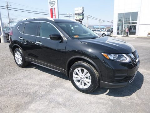 Magnetic Black Nissan Rogue S AWD.  Click to enlarge.