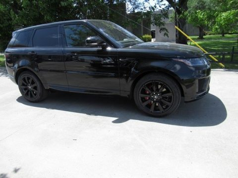 Santorini Black Metallic Land Rover Range Rover Sport HSE Dynamic.  Click to enlarge.