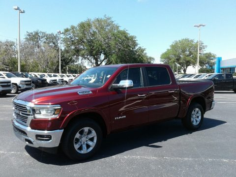 Delmonico Red Pearl Ram 1500 Laramie Crew Cab 4x4.  Click to enlarge.