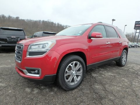 Crystal Red Tintcoat GMC Acadia SLT AWD.  Click to enlarge.