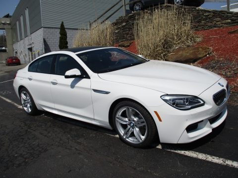 Alpine White BMW 6 Series 640i xDrive Gran Coupe.  Click to enlarge.