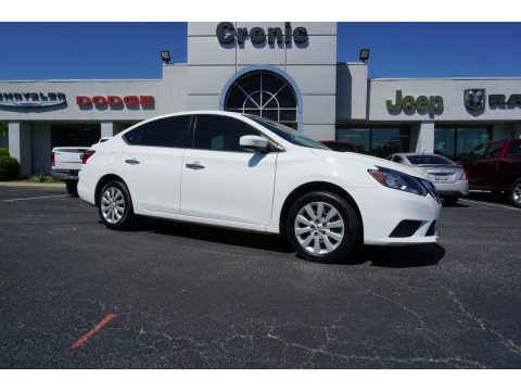 Fresh Powder White Nissan Sentra SV.  Click to enlarge.
