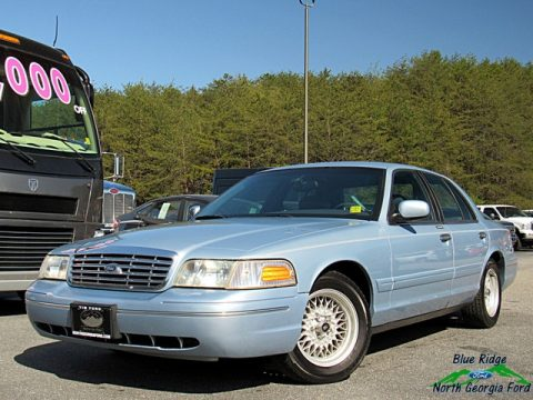 Light Blue Metallic Ford Crown Victoria LX.  Click to enlarge.