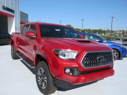 Barcelona Red Metallic Toyota Tacoma TRD Sport Double Cab.  Click to enlarge.