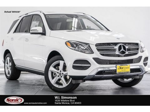 Polar White Mercedes-Benz GLE 350.  Click to enlarge.