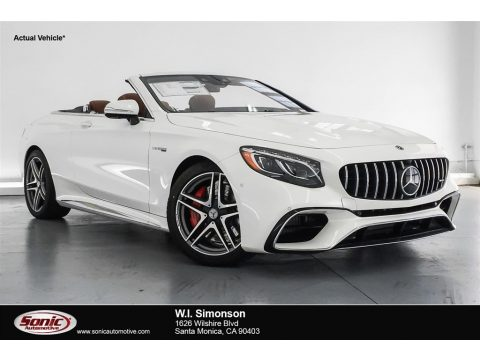 designo Diamond White Metallic Mercedes-Benz S AMG S63 Cabriolet.  Click to enlarge.