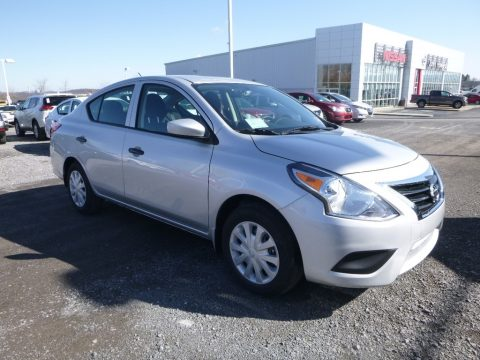Brilliant Silver Nissan Versa S.  Click to enlarge.