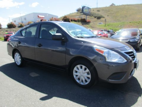 Amethyst Gray Nissan Versa 1.6 S Sedan.  Click to enlarge.