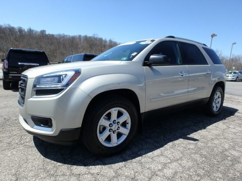 Champagne Silver Metallic GMC Acadia SLE.  Click to enlarge.