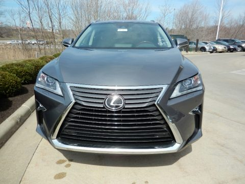 Nebula Gray Pearl Lexus RX 350L AWD.  Click to enlarge.