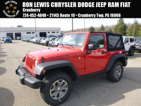 Firecracker Red Jeep Wrangler Rubicon 4x4.  Click to enlarge.