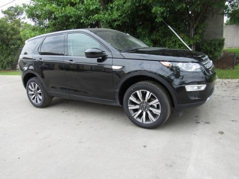 Santorini Black Metallic Land Rover Discovery Sport HSE Luxury.  Click to enlarge.