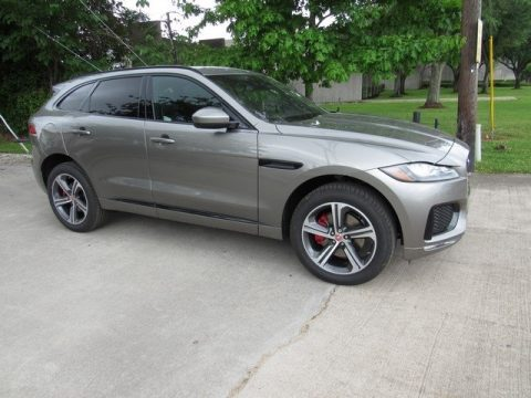Silicon Silver Metallic Jaguar F-PACE S AWD.  Click to enlarge.