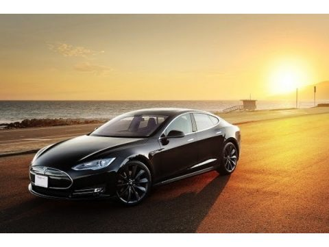 Black Tesla Model S P85 Performance.  Click to enlarge.