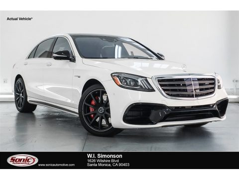 designo Diamond White Metallic Mercedes-Benz S AMG 63 4Matic Sedan.  Click to enlarge.