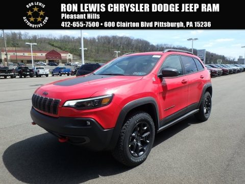 Firecracker Red Jeep Cherokee Trailhawk Elite 4x4. Click To Enlarge.