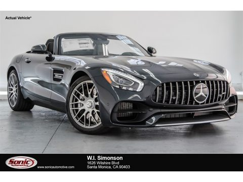Magnetite Black Metallic Mercedes-Benz AMG GT Roadster.  Click to enlarge.