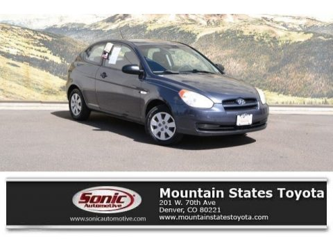 Charcoal Gray Hyundai Accent GS 3 Door.  Click to enlarge.