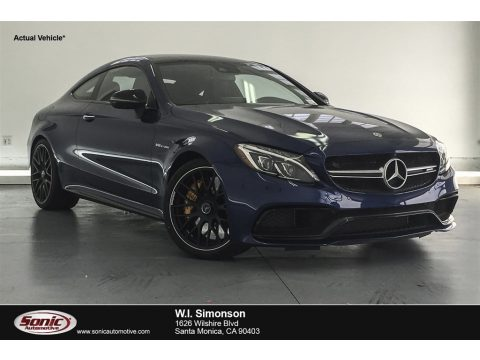 Brilliant Blue Metallic Mercedes-Benz C 63 S AMG Coupe.  Click to enlarge.