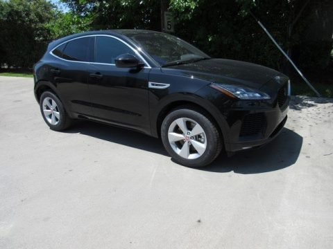 Santorini Black Metallic Jaguar E-PACE R-Dynamic S.  Click to enlarge.