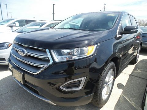 Shadow Black Ford Edge SEL AWD.  Click to enlarge.