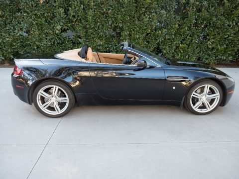 Jet Black Aston Martin V8 Vantage Roadster.  Click to enlarge.