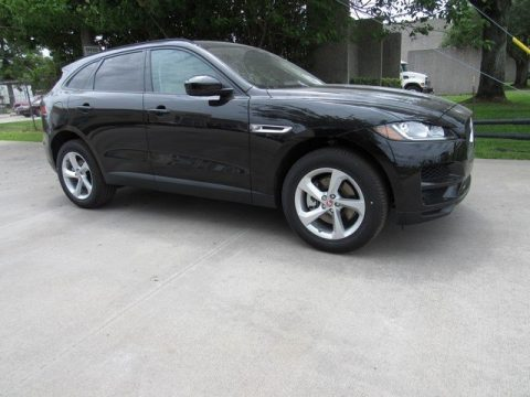 Santorini Black Metallic Jaguar F-PACE 30t AWD Premium.  Click to enlarge.