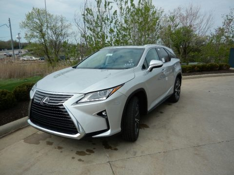 Silver Lining Metallic Lexus RX 350L AWD.  Click to enlarge.