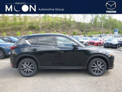 Jet Black Mica Mazda CX-5 Grand Touring AWD.  Click to enlarge.