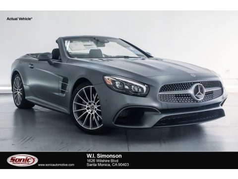 designo Selenite Grey Magno (Matte) Mercedes-Benz SL 550 Roadster.  Click to enlarge.