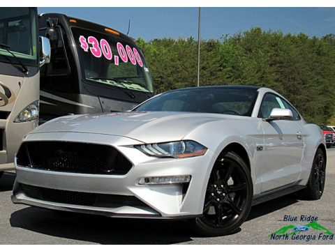 Ingot Silver Ford Mustang GT Premium Fastback.  Click to enlarge.