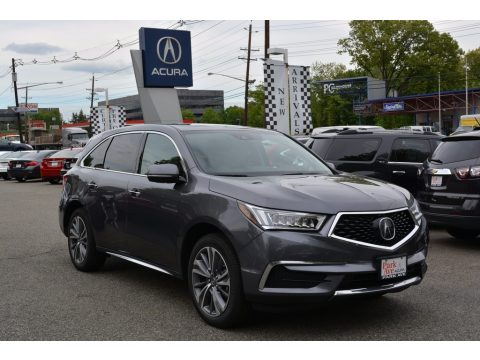 Modern Steel Metallic Acura MDX Technology SH-AWD.  Click to enlarge.