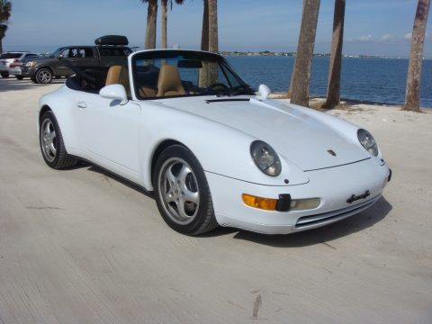 Glacier White Porsche 911 Carrera Cabriolet.  Click to enlarge.