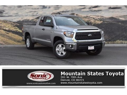 Silver Sky Metallic Toyota Tundra SR5 Double Cab 4x4.  Click to enlarge.