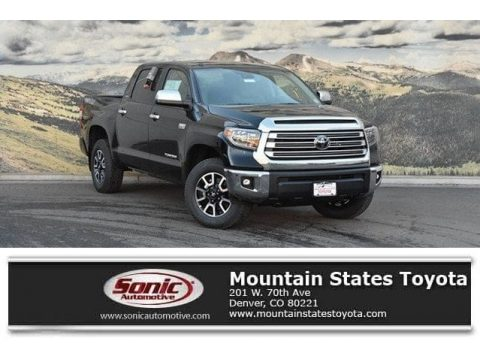 Midnight Black Metallic Toyota Tundra Limited CrewMax 4x4.  Click to enlarge.