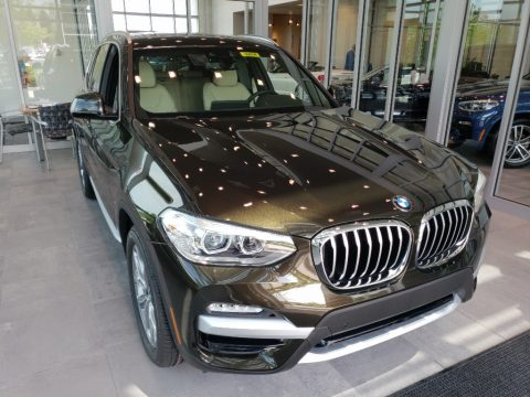 Dark Olive Metallic BMW X3 xDrive30i.  Click to enlarge.
