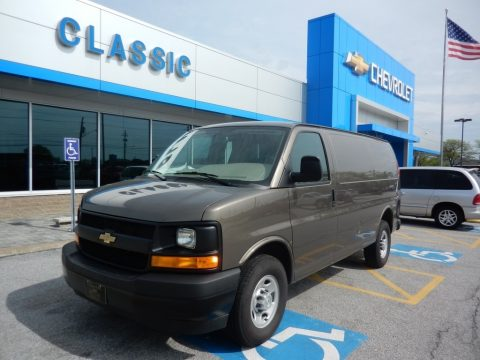 Brownstone Metallic Chevrolet Express 2500 Cargo WT.  Click to enlarge.