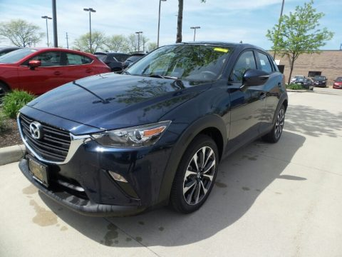 Deep Crystal Blue Mica Mazda CX-3 Touring AWD.  Click to enlarge.
